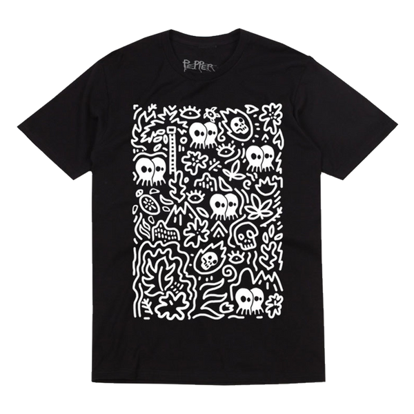 Skullconut Map Black Tee