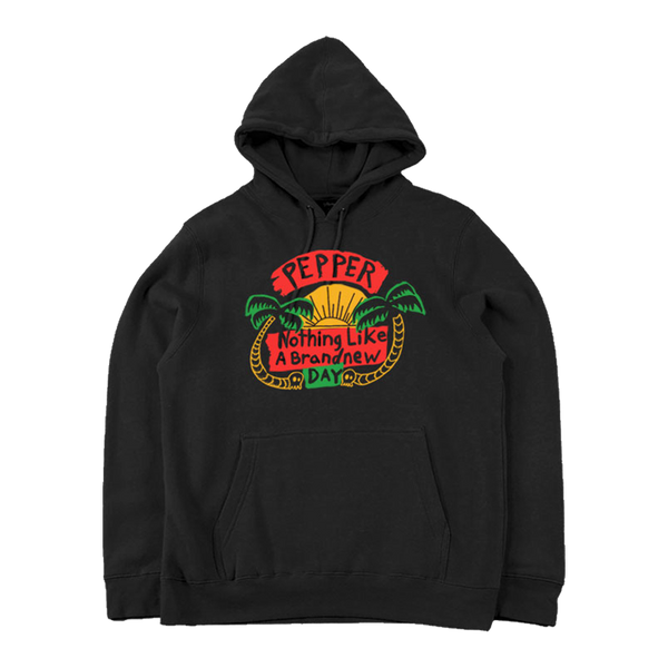 Nothing Like A Brand New Day Black Pullover Hoodie