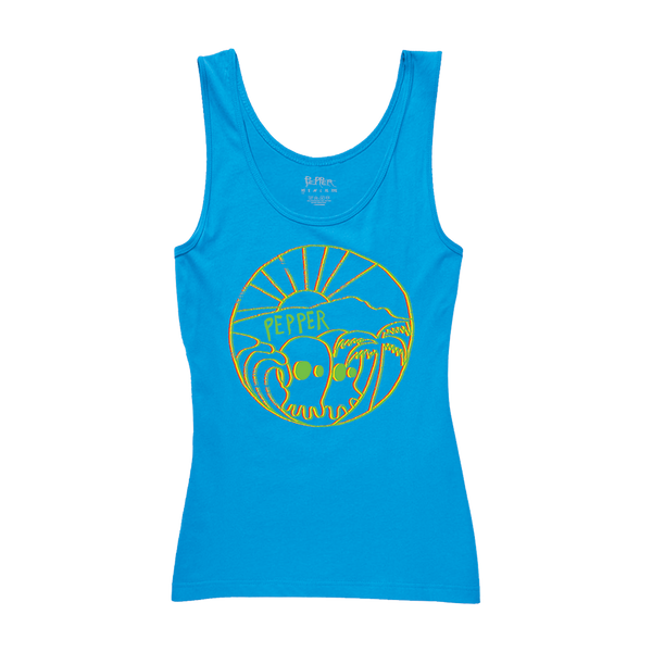 "Pepper ""Skullconut Sun"" Blue Women's  Tank"
