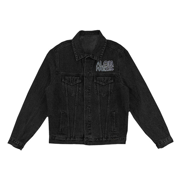 Aloha Fuckers Black Denim Jacket