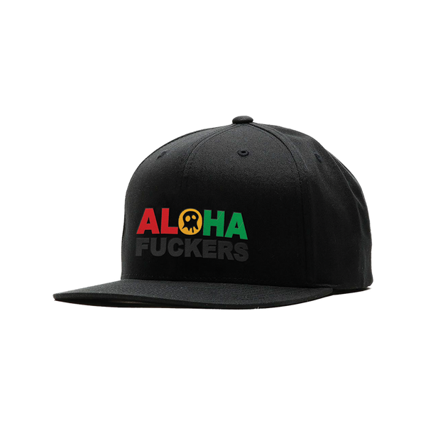 "Pepper ""Aloha Fuckers"" Black Snapback"