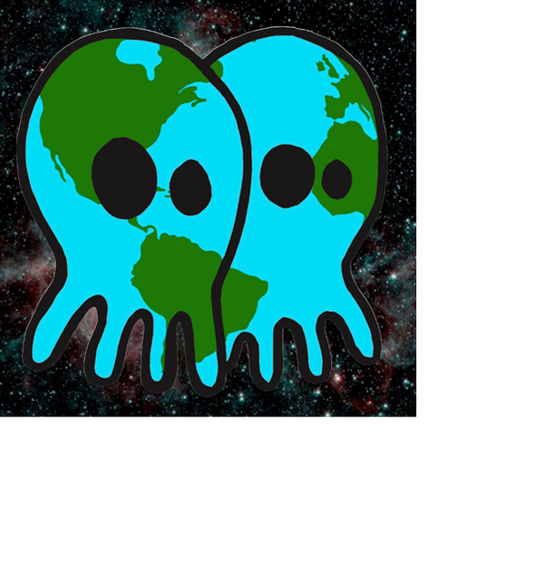 Earth Skullconut Sticker