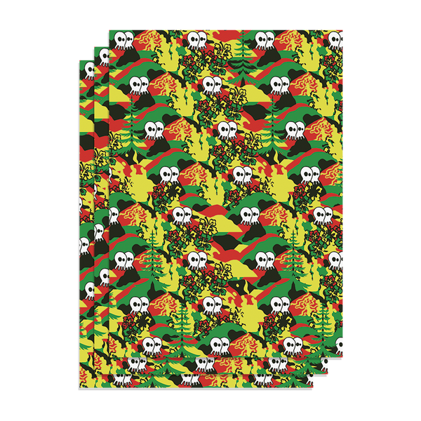 "Pepper ""Rasta"" Wrapping Paper"