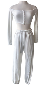 Relaxed Jersey Two Piece Crop Top - Accents Dallas