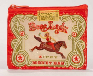 Red Boss Lady Zip Pouch - Accents Dallas