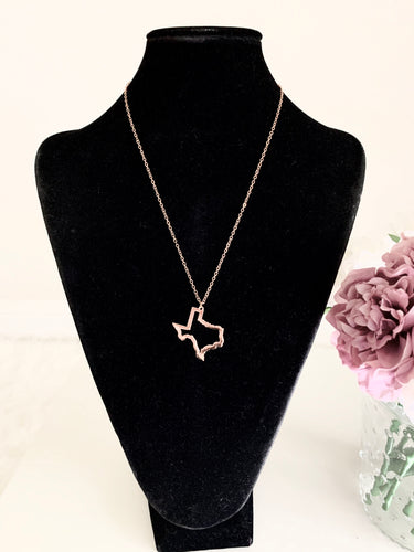 Texas Necklace - Gold - Accents Dallas
