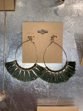 Load image into Gallery viewer, Olive Fringe Earrings