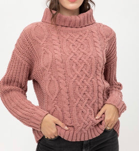 Mauve Matt Chenille Sweater