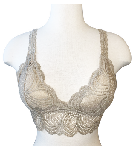 Lace Bralette - Taupe - Accents Dallas
