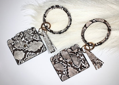 Snakeskin Key Ring with Wallet