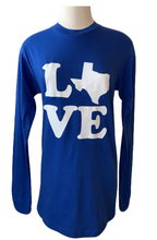 Load image into Gallery viewer, love texas blue shirt