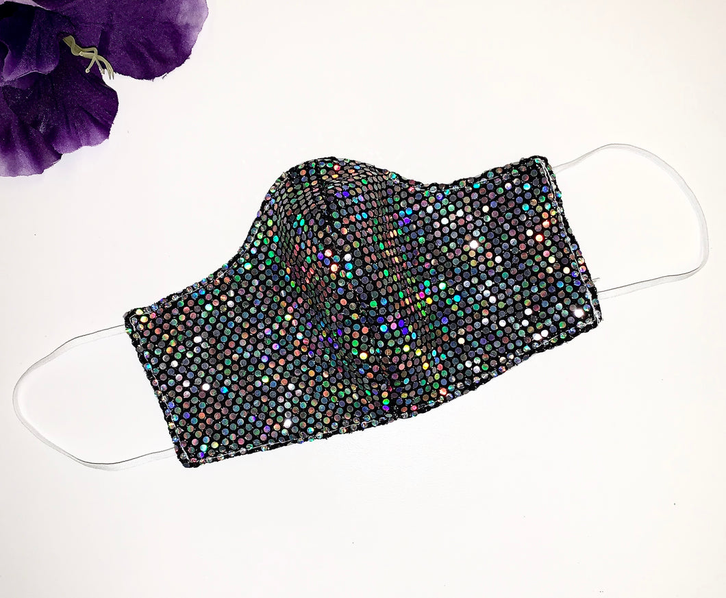 Iridescent Sequins Face Mask