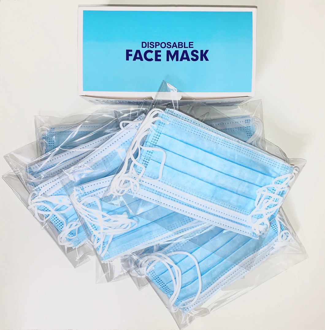 Disposable Face Masks 3-Ply - Accents Dallas