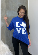 Load image into Gallery viewer, Love Texas Longsleeve T-Shirt - Accents Dallas