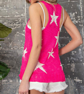 Star V-Neck Tank Top