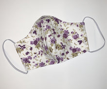 Load image into Gallery viewer, Purple Floral Face Mask