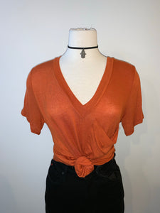 Burnt Orange Top - Accents Dallas