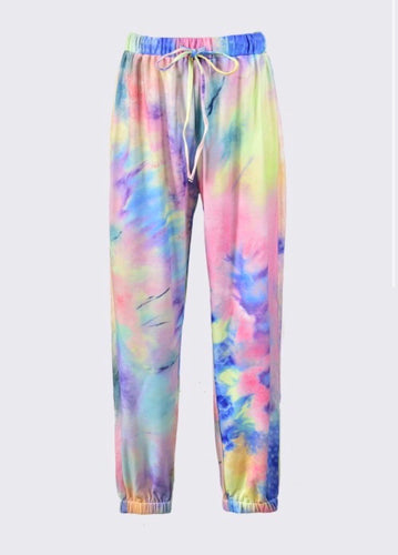 Colorful Tie Dye Joggers - Accents Dallas