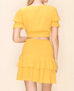 Mustard Two Piece - Accents Dallas