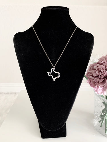 Texas Outline - Silver - Accents Dallas