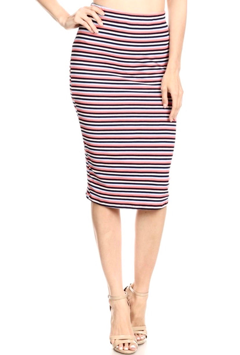 Colorful Stripes Pencil Skirt - Accents Dallas