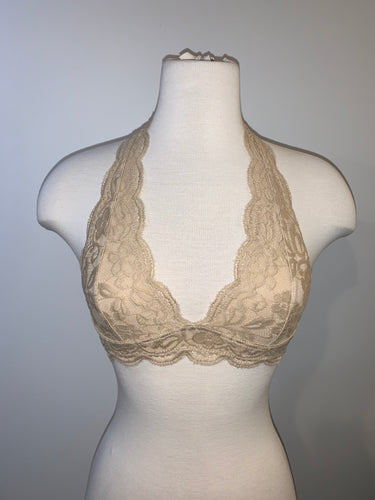 Lace Halter Bralette - Accents Dallas