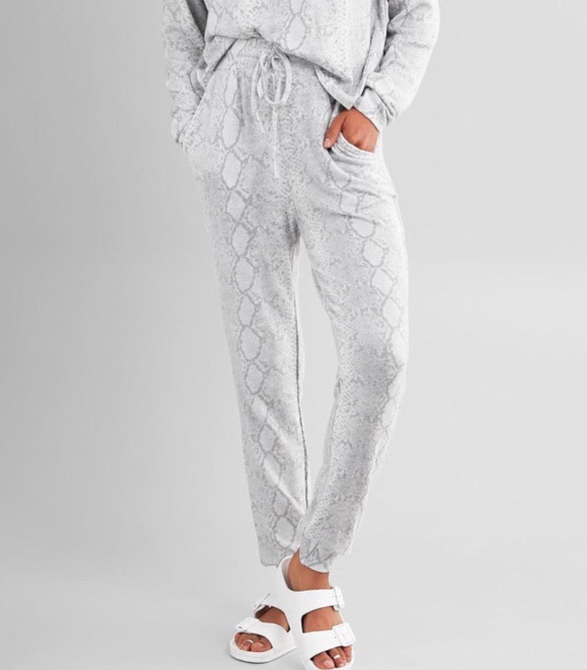 Lounge Snakeskin Joggers - Accents Dallas