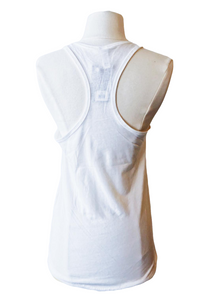 dallas white tank top