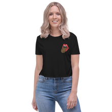 Load image into Gallery viewer, Red Lips Logo Crop Tee - Accents Dallas