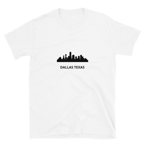 Dallas Skyline Short-Sleeve Unisex T-Shirt - Accents Dallas