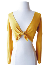 Load image into Gallery viewer, mustard yellow crop top