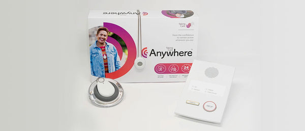 New personal alarm with Taking Care packaging