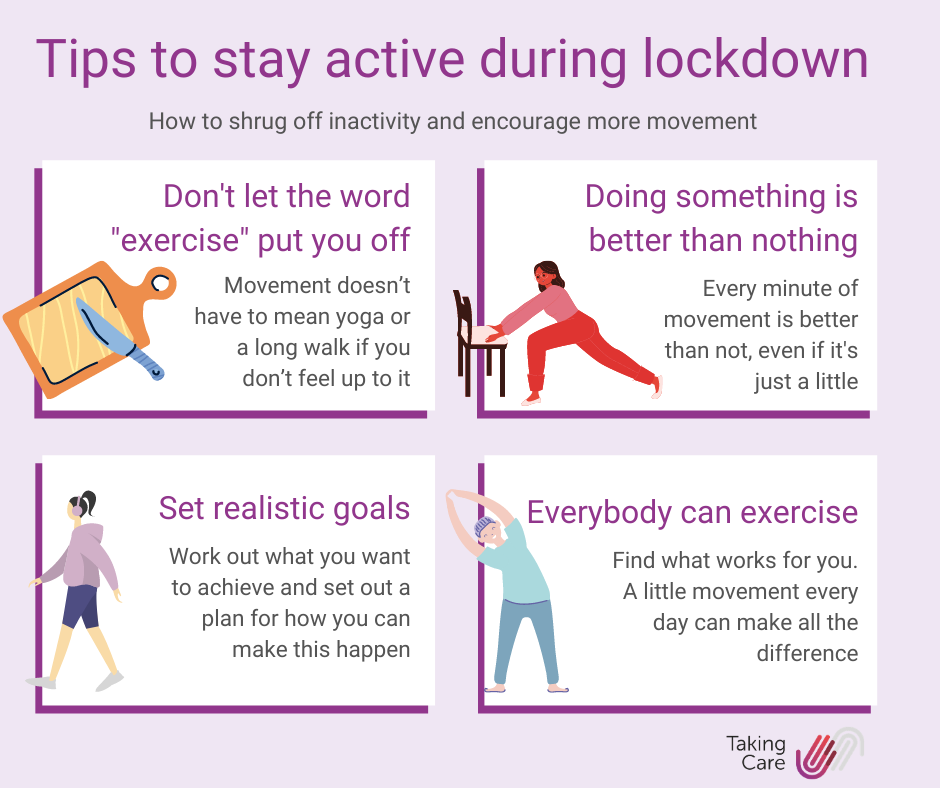 Infographic: top tips to stay active during lockdown