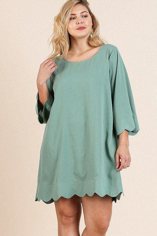 3/4 Sleeve Round Neck Dress - Wild Within®