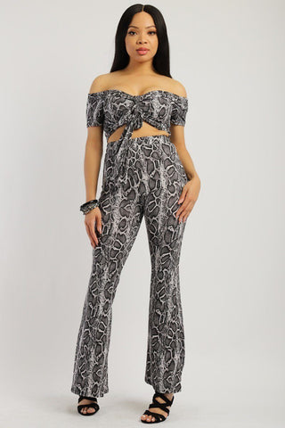 Animal Print, Two-piece Knit Set - Wild Within