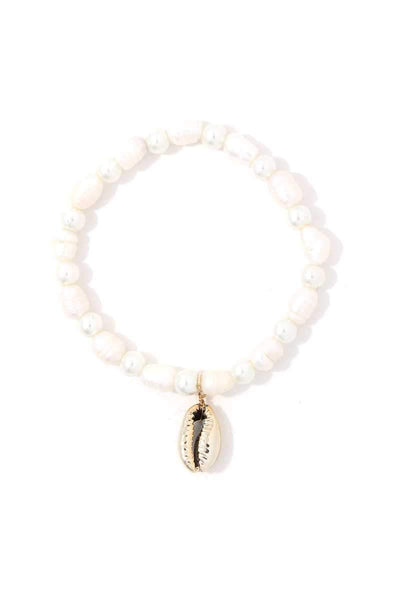 Cowrie Shell Beaded Stretch Bracelet - Wild Within®