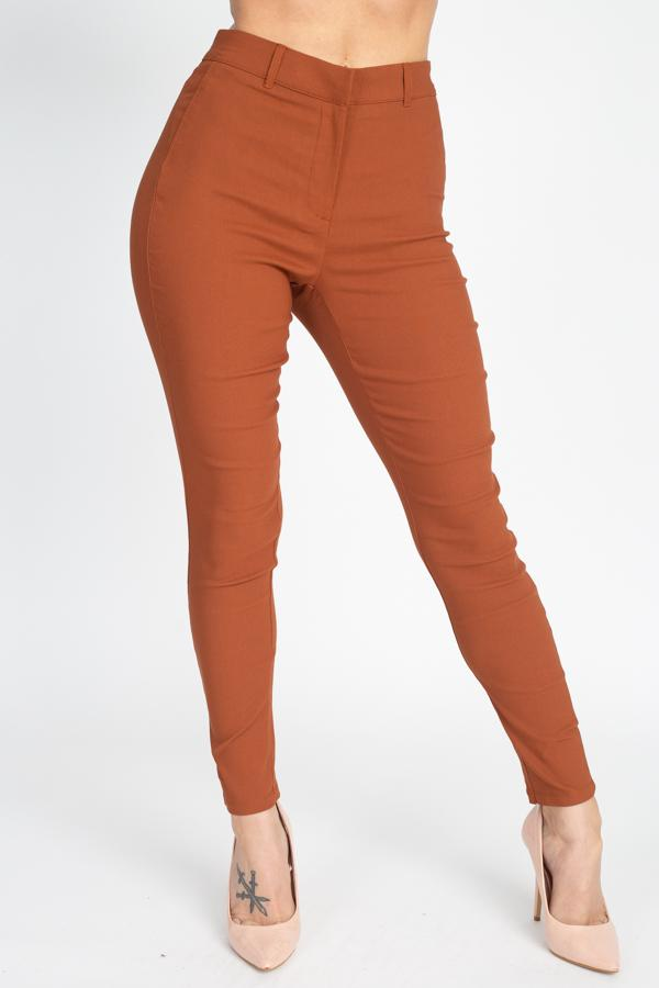 High Rise Solid Skinny Pants - Wild Within®