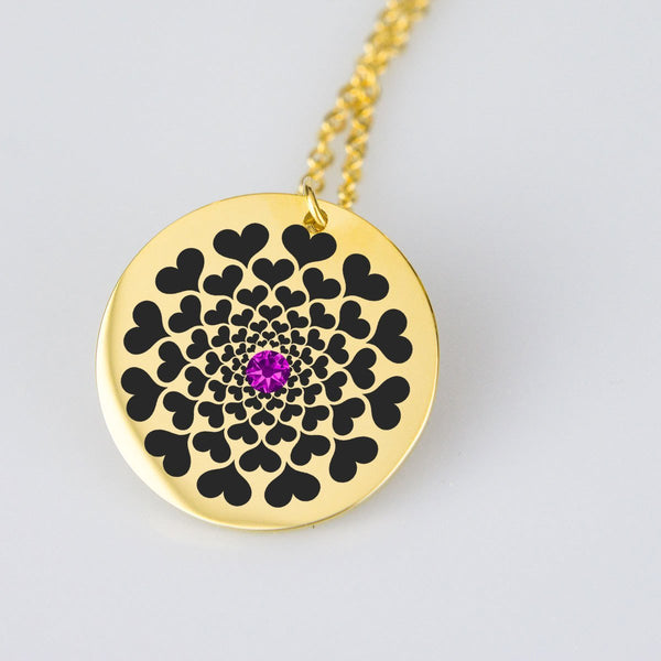 Love Mandala Birthstone Gold Plated Necklace - Wild Within®