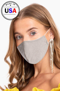 Made In Usa Unisex Fashionable Reusable Washable Cool Breathable Fabric, 3d Face Mask - Wild Within®