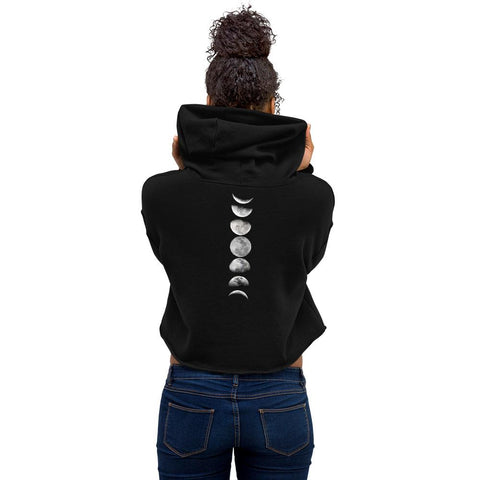 Moon Phase Back Crop Hoodie - Wild Within®