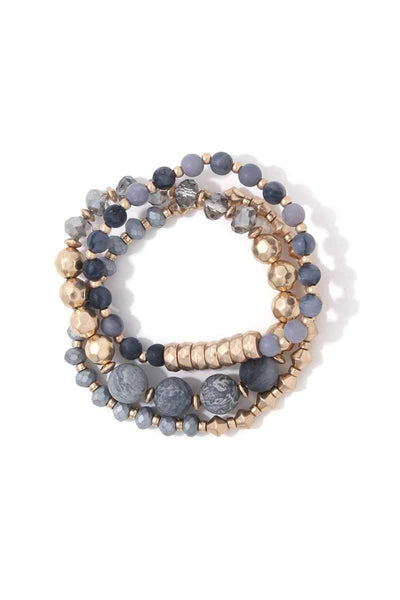 Multi Beaded Stretch Bracelet Set - Wild Within®