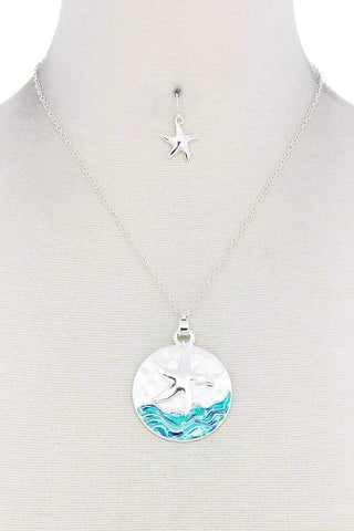 Starfish Round Pendant Necklace - Wild Within®