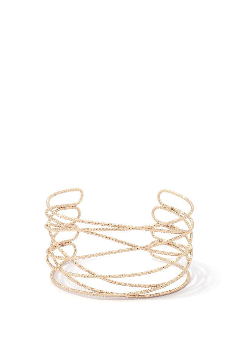 Textured Metal Cuff Bracelet - Wild Within®