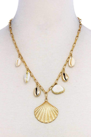 Trendy Fashion Chic Sea Life Shell Necklace - Wild Within