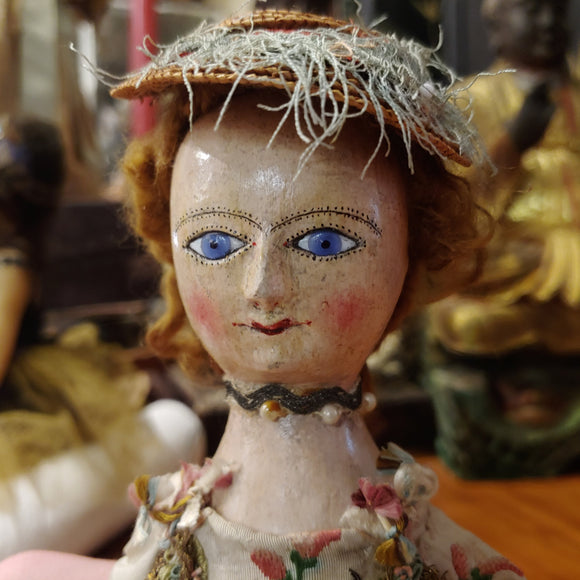 Georgian English Wooden Doll