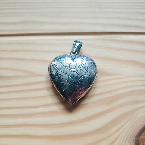 Contemporary Heart-shaped Silver Locket