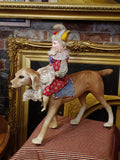 Jester Riding a Dog (pull toy)