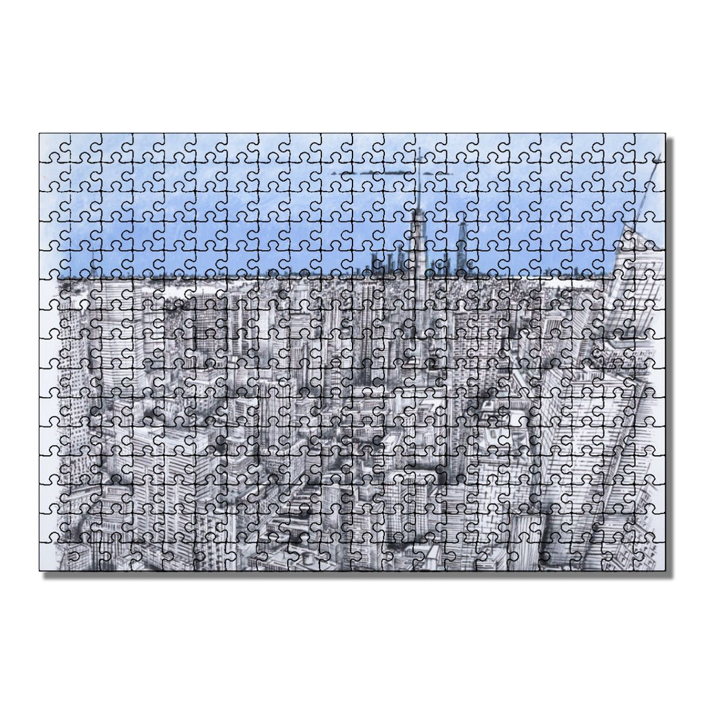 """I'll Meet You in New York"" Wooden Jigsaw Puzzles 300 Pieces"