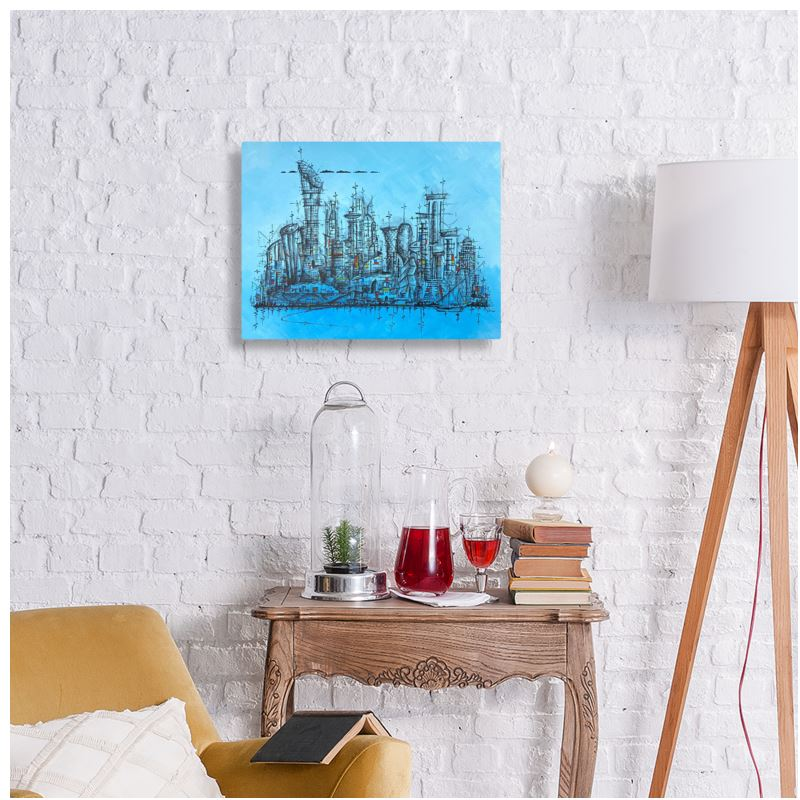 """Landmarks of Doha"" Metal Print"