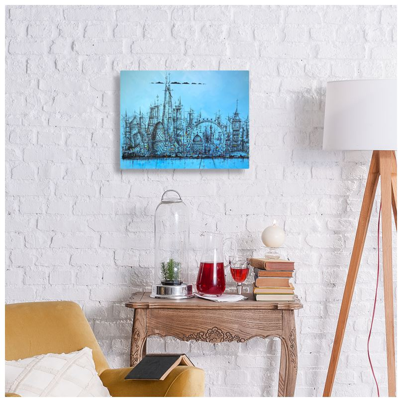 """Landmarks of London"" Metal Print"